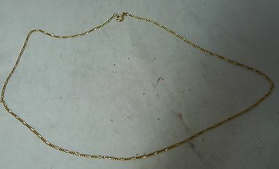 Vintage 9ct Yellow Gold Chain Necklace 2g 46cm AF A605517