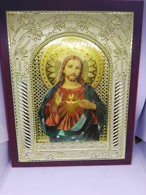 Jesus & Mary 19x24cm HOLY PICTURE in beautiful frame