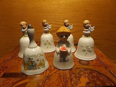 Lot of 6 Ceramic Bells, Homco & Others