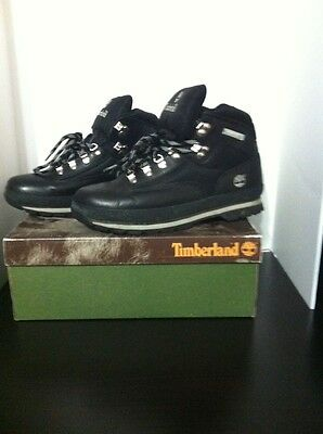Timberland Mens Size 11 Euro Hiker Black Mid Lace Up Hiking Boots Shoes Nice!!