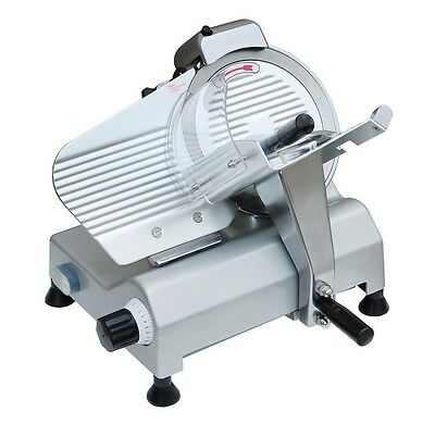 "10"" Electric Blade Deli Meat Slicer Commercial 240w 530RPM Food Cheese Veggies"
