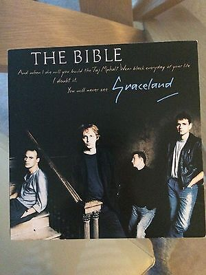 the bible gracelands 7 inch vinyl single very good condition
