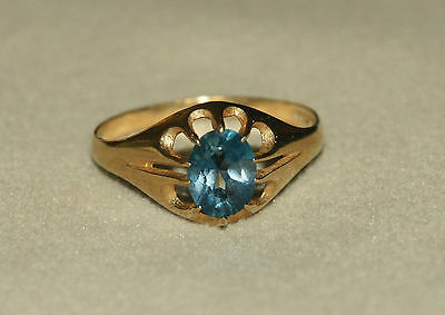 9Carat Ct Gold Topaz Ring Size W