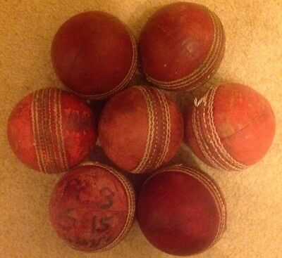 7 Used Adult Cricket Balls. Perfect For Practice