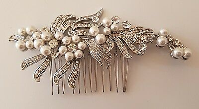 Bridal vintage looking hair comb - NEW without tags