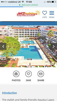 Lagos, Algarve holiday for two 30th June 2017 - 7th July 2017