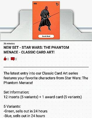 Topps Star Wars Card Trader Phantom Menace Classic Card Art [24X PRESALE] Maul++