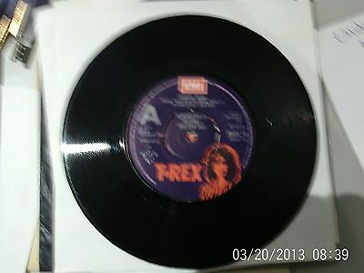 "T.rex Crimson Moon 7"" Rare 1977 Uk Original A Label Demo Marc Bolan"