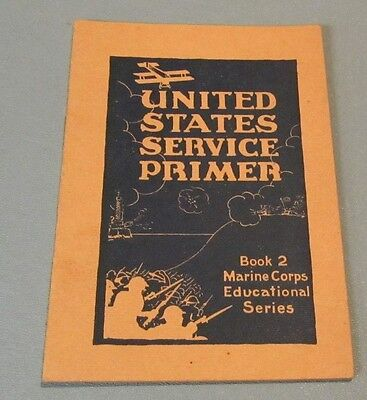 WWI US Armed Forces United States Service Primer Recruitment Book with Drawings
