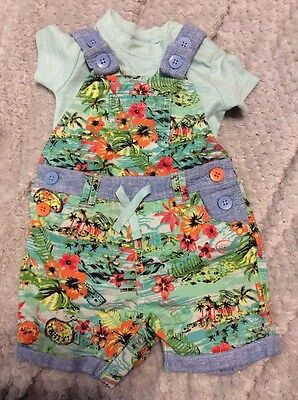 Next Baby Boys Short Dungarees Summer 0-3 Months New Without Tags