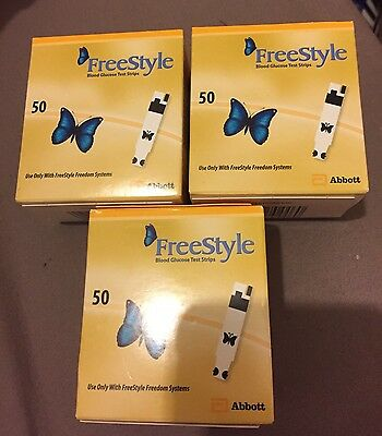 3 boxes of 50 freestyle blood glucose test strips. 150 Strips In total. BNIB.