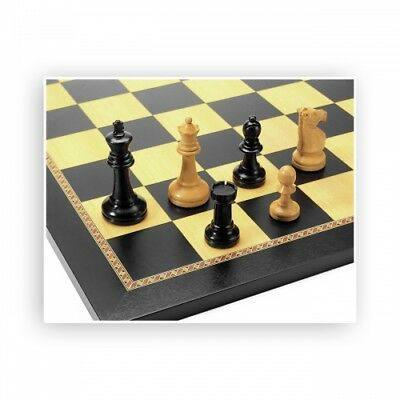 Chess figures - Ebony and Boxwood - Kings height 95mm