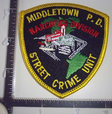 Middletown Narcotics Division CT Police Patch CONNECTICUT Street Crime Unit Sm.