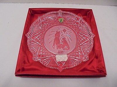 "Waterford Crystal Songs of Christmas Plate 8"" 1996 NOS Ireland"