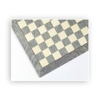 Chessboard - Birds eye maple - gray and natural - Width 45 cm - Field size 45 mm