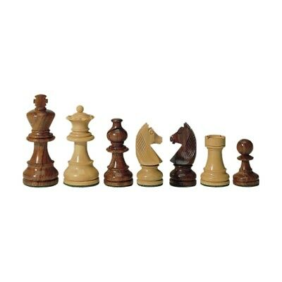 Chess figures - Teak and Boxwood - Kings height 95 mm