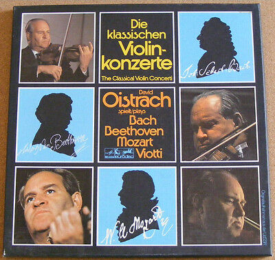 DAVID OISTRAKH plays Bach Beethoven Mozart Violin Concerti Near Mint 3LP Box Set