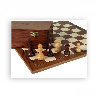 Chess figures - Teak and Boxwood - Kings height 83mm