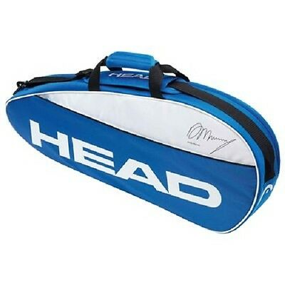 HEAD Andy Murray Team Blue & White Pro Tennis Racket Bag - Up to 3 Rackets