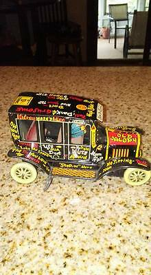 Vintage MARX LITHOGRAPHED Wind up OLD JALOPY 1950's TIN Car