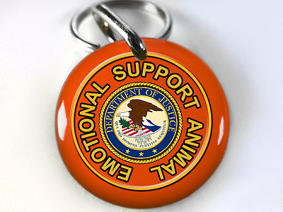 Service Dog ESA Emotional Support Animal Dog tags Pet tags orange