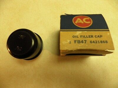 NOS AC FB47 6421868 Black Oil Filler/Breather Cap 1966 1967 Chevelle 396