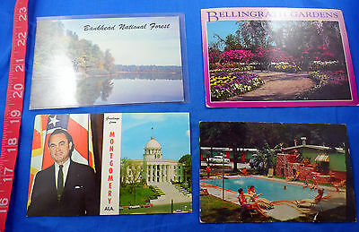 Alabama Vintage Postcard Lot Of 8 Pieces, Old, Variety- Free Us Shipping
