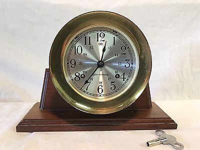 Vintage Seth Thomas Ship's Clock On Stand