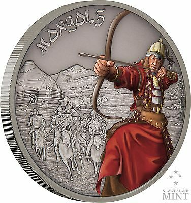 2017 Niue -  Warriors Of History - Mongols 1 oz Coin
