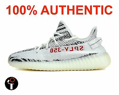 Adidas Yeezy Boost 350 V2 4-14 White Black Red Zebra Cp9654. 100% Authentic