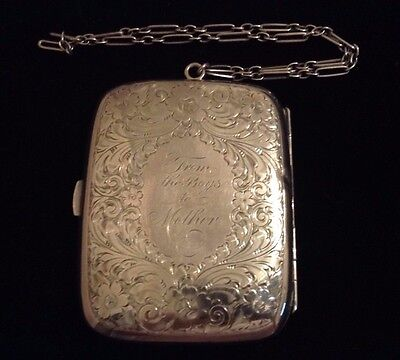 Sterling Silver Compact Includes Coin Holder, Powder Puff, Mirror, Card Holder