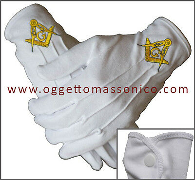 Massoneria Guanti Massonici / Freemasonry Masonic Gloves