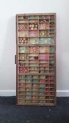 Vintage letterpress printer's tray drawer upcycled