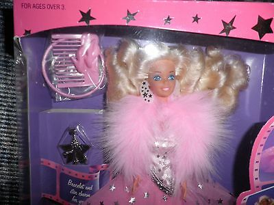 Mattel Barbie Doll - Superstar 1988 Movie Star - NRFB, New, Mint - Pink Box