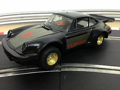Scalextric Car Porsche Turbo 935 Black No5 C364 Working Lights New Rear Tyres