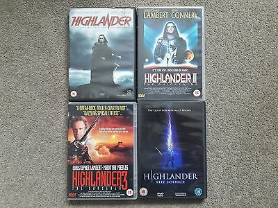 Highlander 1 2 3 + The Source Dvd  * 4 Dvds Set *  ** Free Uk Post **