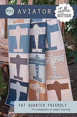 AVIATOR QUILT QUILTING PATTERN, From Lella Boutique NEW