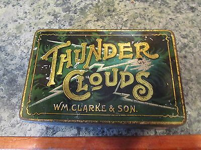 <SW@@T> W. M. Clark Thunder Clouds Tobacco Tin  <SW@@T>