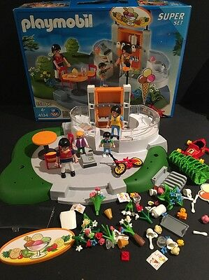PLAYMOBIL 4134 Ice Cream Parker Ship Super Set Retired with Box