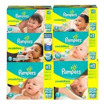 Pampers Swaddlers Baby Diapers Size N, 1, 2, 3, 4, 5, 6 CHEAP!!! NO TAX