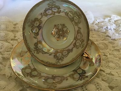 Shafford China Cup And Saucer     Japan. Hand Decorated