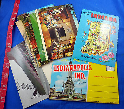 Old Indiana Vintage Postcard Lot Of 19 Pieces, Variety, Including One Fold-Out