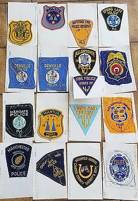 Lot of 32 vintage New Jersey Police sample patches