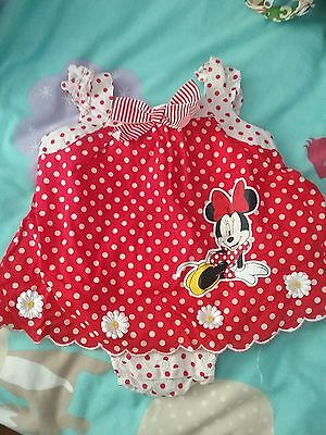 minnie mouse romper baby girl clothes size 6-12 months