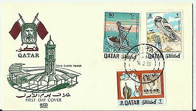 Qatar Year 1968 - Part Fdc / Cover - Shaikh Ahmad Al Thani, Doha Clock Tower
