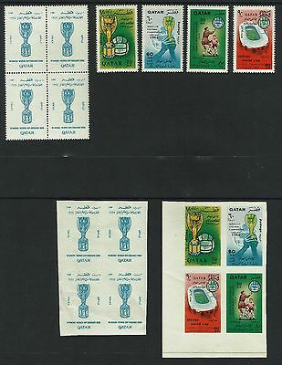 Qatar Year 1966 - Soccer / Football Cup In London - Perf. & Imperf. Stamps,mnh**