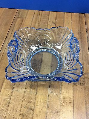Vintage Cambridge Glass Caprice Moonlight Blue Bowl