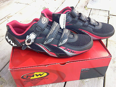 Northwave Fighter Sbs Cycling Shoes, Black/red, Size 49,  Brand New