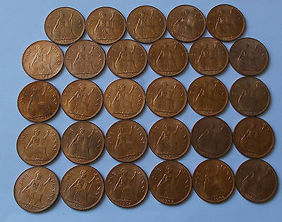 GB Old One Penny Coins Late to Mid 1960s Uncirculated