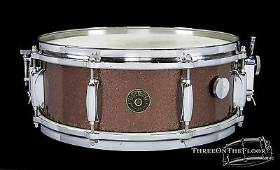 1960s Gretsch Round Badge 'Name Band' Snare Drum : Burgundy Sparkle : Vintage